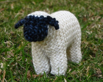 Waldorf Toy, Suffolk Sheep Knitting Pattern (PDF), Digital Download
