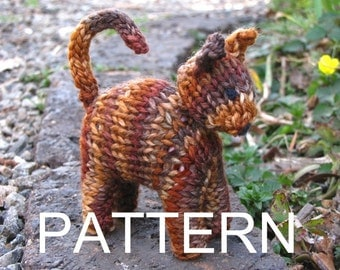Waldorf Toy, Cat Knitting Pattern, PDF, Instant Digital Download