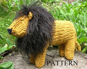 Waldorf Toy, Lion Toy Knitting Pattern (PDF) Digital Download