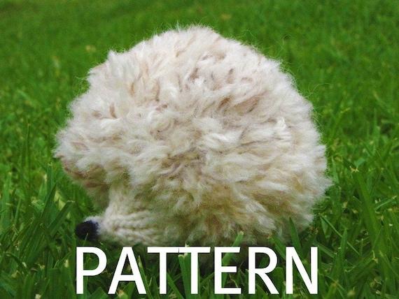 Hedgehog Knitting Pattern, PDF