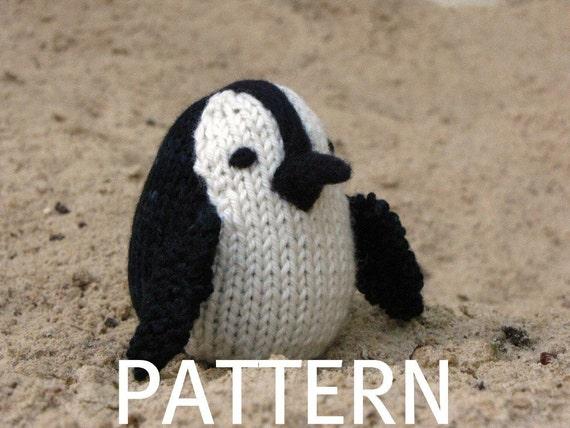 African Pengiun Toy Knitting Pattern, (PDF)