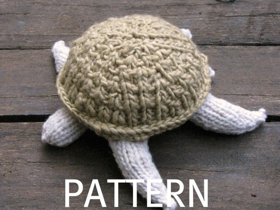 Knitting Patterns Turtle Toy : Turtle Knitting Pattern PDF by mamma4earth on Etsy
