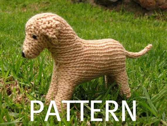 Knitting Patterns For Toy Dogs : Labrador Dog Toy Knitting Pattern PDF by mamma4earth on Etsy