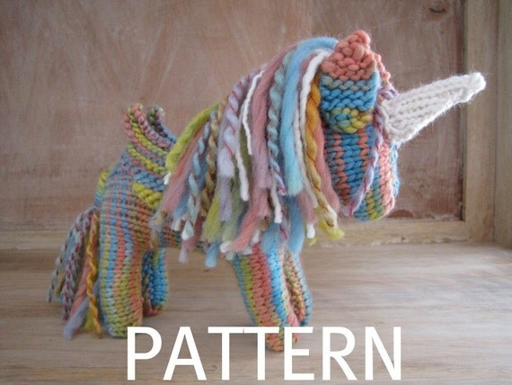 Pegasus Unicorn Knitting Pattern, PDF