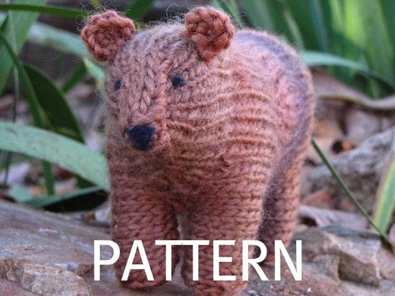 PDF, Bear Knitting Pattern, Waldorf Toy