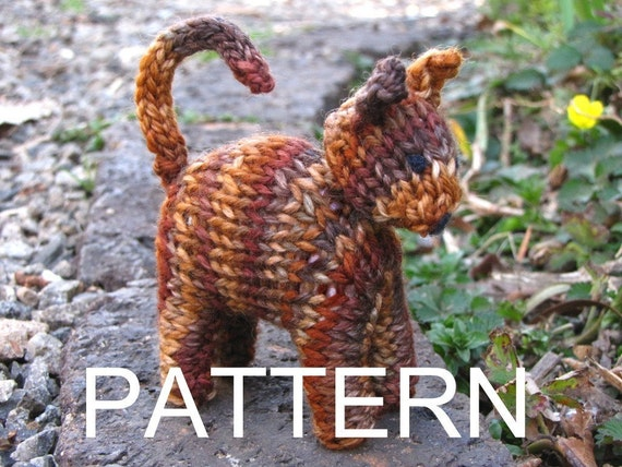 Waldorf Toy, Cat Knitting Pattern, PDF