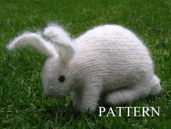 Bunny Rabbit Knitting Pattern, PDF