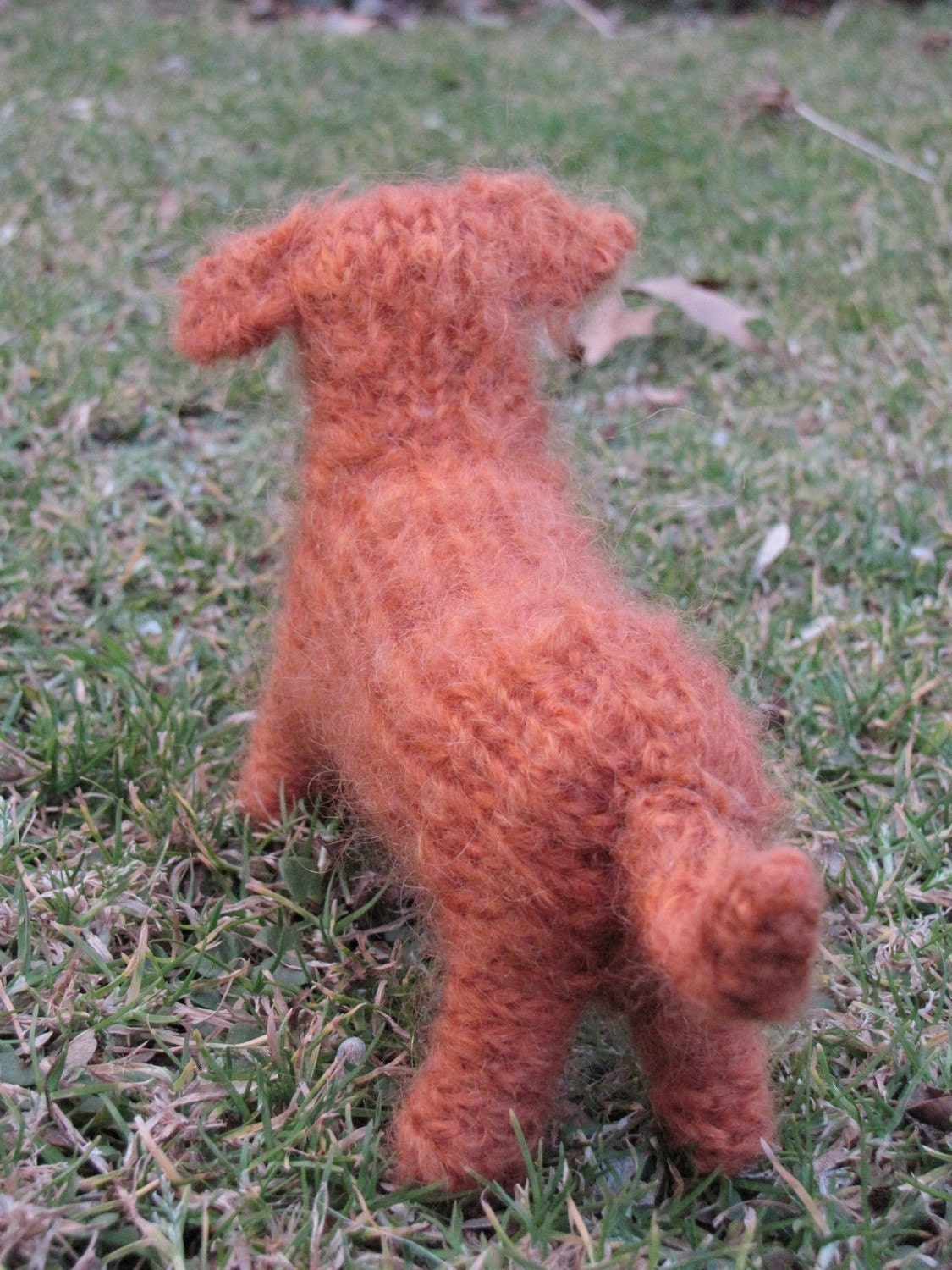 Knitted Dachshund Pattern : Dachshund Knitting Pattern by mamma4earth on Etsy