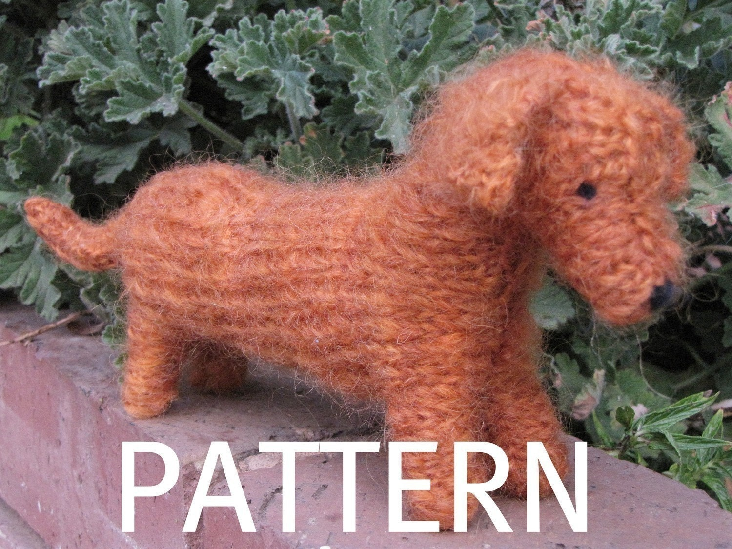 Knitted Dachshund Pattern : Dachshund Dog Knitting Pattern PDF