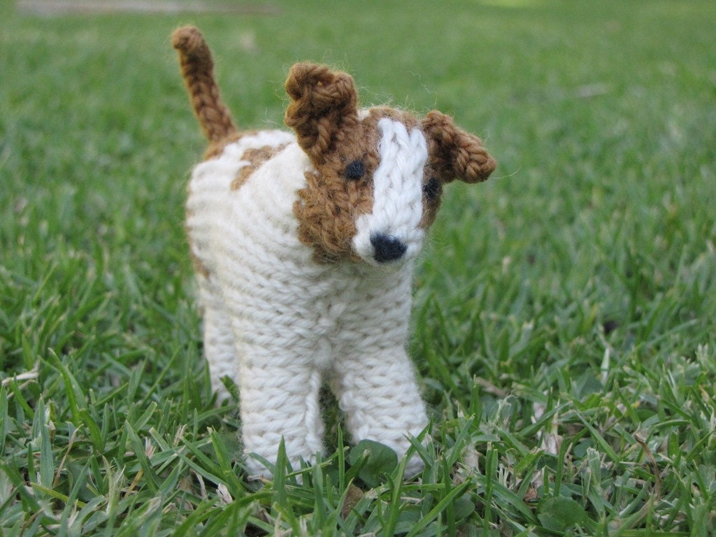 Knitting Pattern For Jack Russell Dog : Jack Russell Dog Knitting Pattern PDF