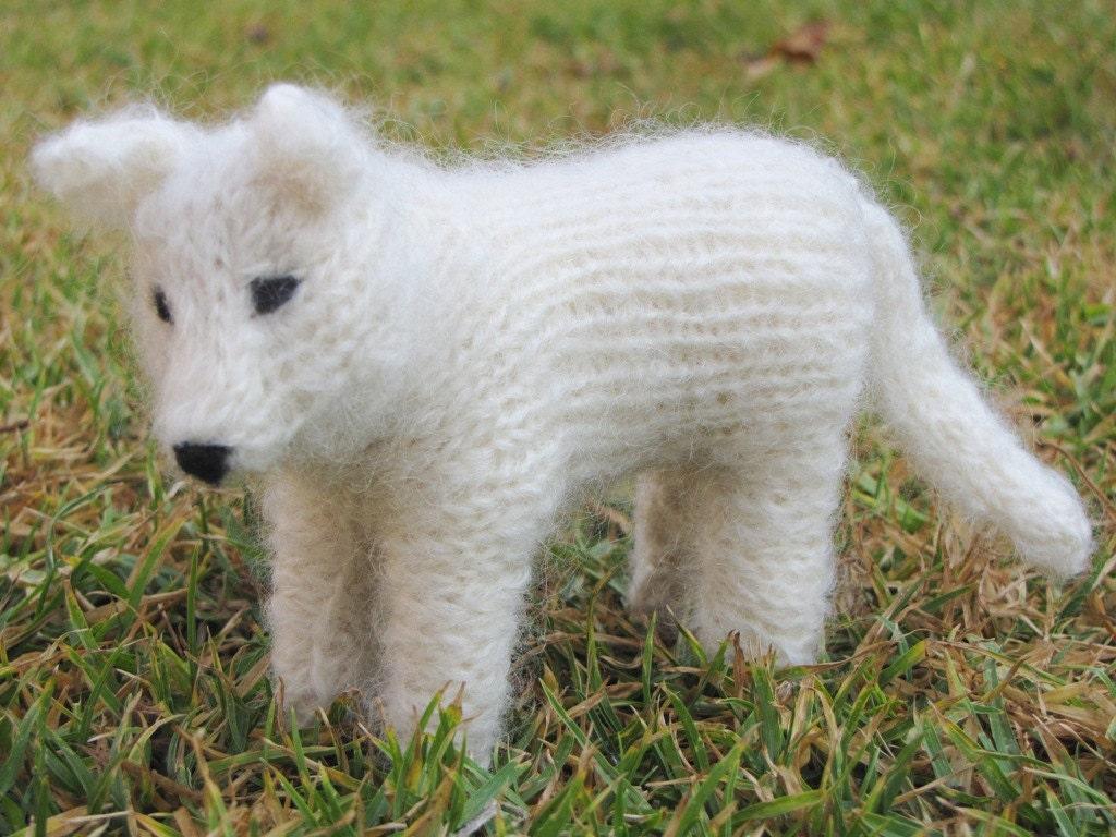Knitting Patterns To Make Animals : Spirit the White Wolf Pattern PDF