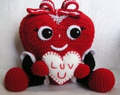 Pdf Crochet Pattern PUDGY VALENTINE HEART (English only)