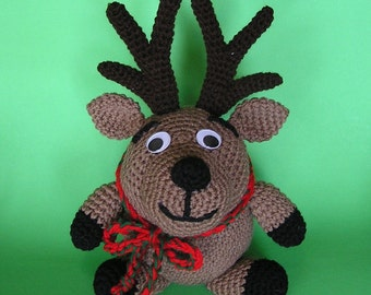 PDF Crochet Pattern PUDGY REINDEER