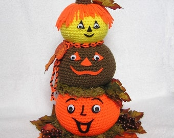 PUMPKIN CENTERPIECE Pdf Crochet Pattern