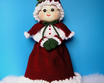 PDF Crochet Pattern MRS SANTA