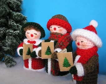 PDF Crochet Pattern CAROLING FAMILY