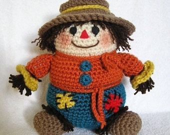 PUDGY SCARECROW PDF Crochet Pattern (English only)