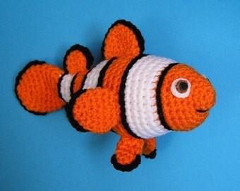 PDF Crochet Pattern CLOWN FISH (English only)