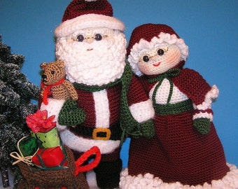 Pdf Crochet Pattern MR and MRS SANTA