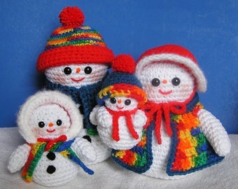 Pdf Crochet Pattern THE SNOW FAMILY (English only)
