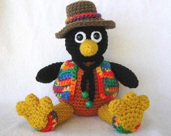 CHARLIE THE CROW Pdf Crochet Pattern