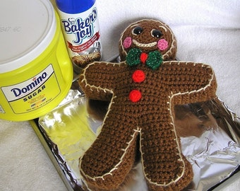 PDF Crochet Pattern GINGERBREAD BOY
