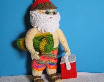 Pdf Crochet Pattern SANTA ON VACATION (English only)