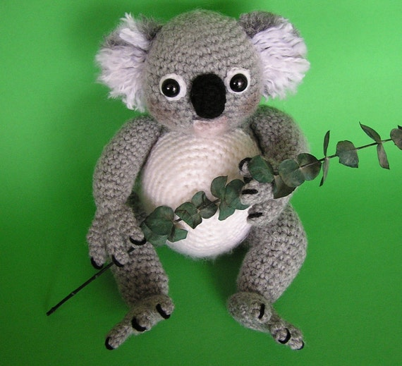 Crochet Pattern Koala Bear : KOALA BEAR PDF CROCHET PATTERN by bvoe668 on Etsy