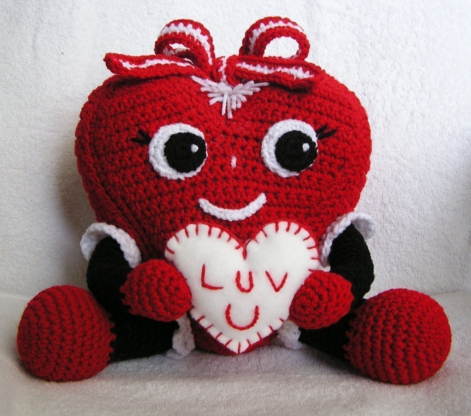 Pdf Crochet Pattern PUDGY VALENTINE HEART by bvoe668 on Etsy