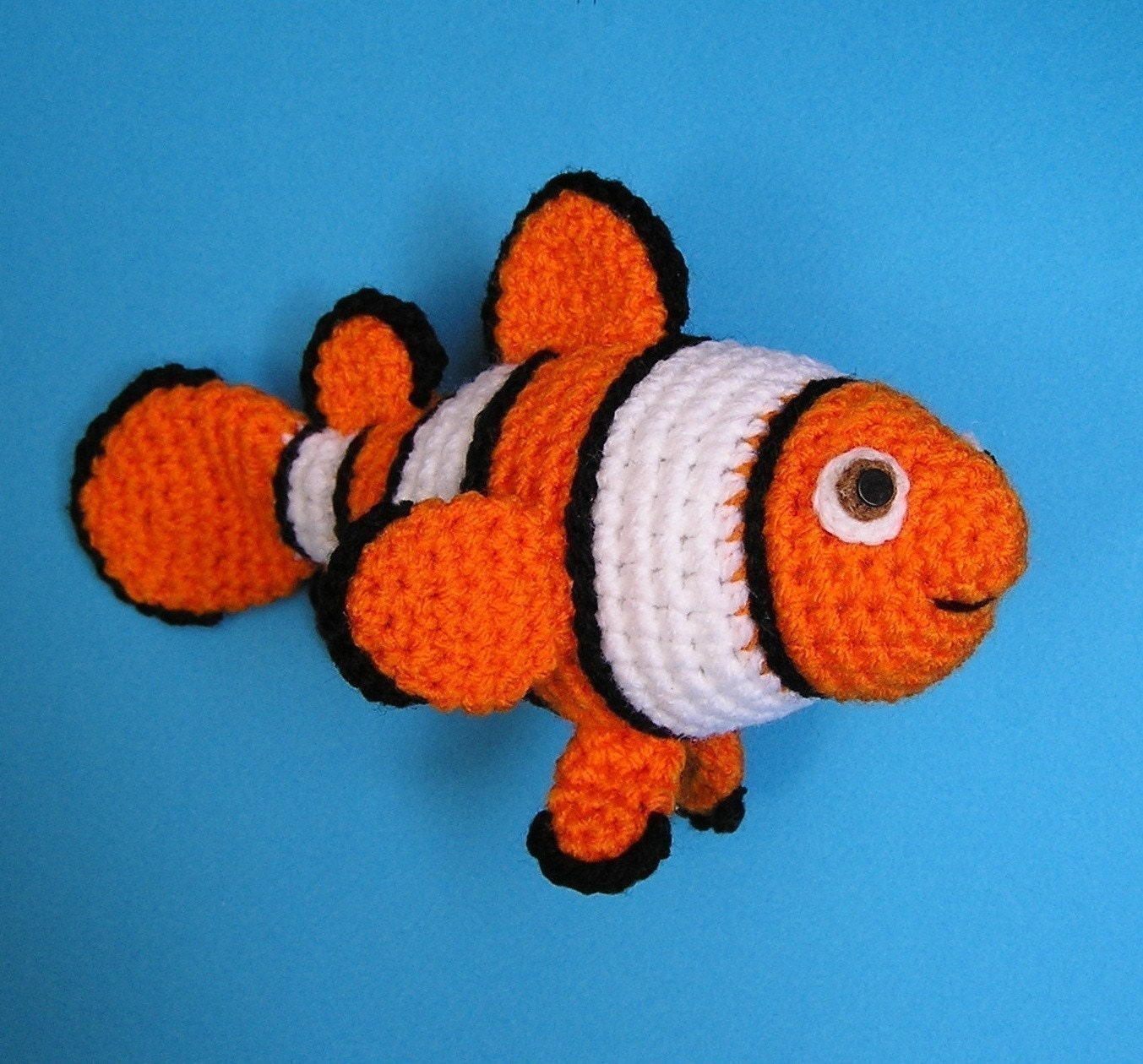 Free Crochet Patterns Of Fish : PDF Crochet Pattern CLOWN FISH