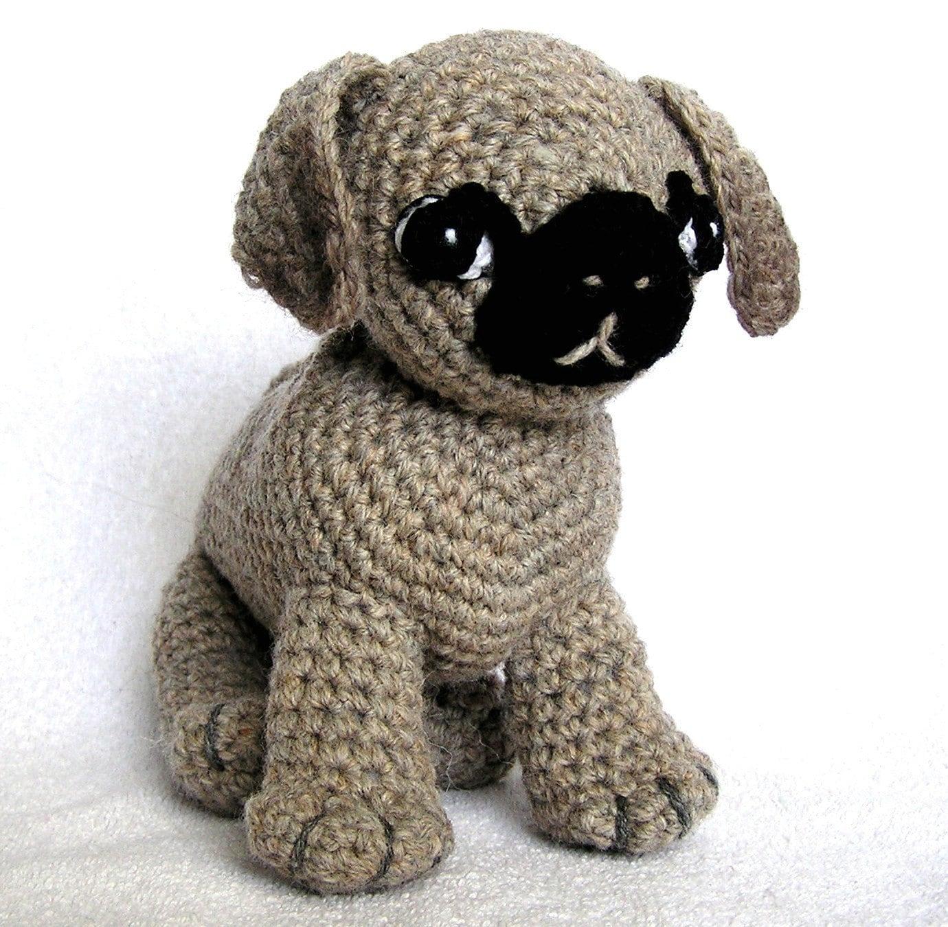 Amigurumi Horse Patterns : PDF Crochet Pattern A PUG Named Ted