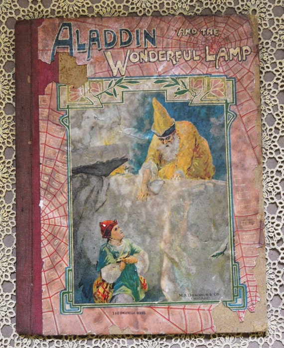 Aladdin and the Wonderful Lamp Early Antique Hardback Book Late 1800s or Early 1900s Cinderella Series