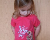 NEW girlie cut - butter bee - short sleeve tee - size 2t, 4t or 6
