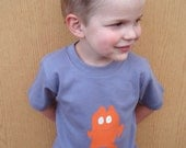 NEW Character - zip - hand silkscreened youth tee - size 2t - 12