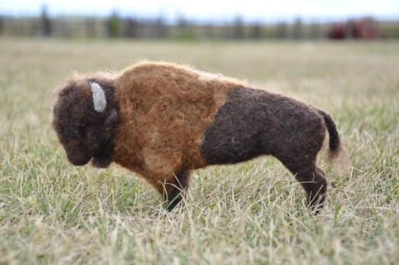 Needle Felted Bison - Buffalo - Wildlife- Animal