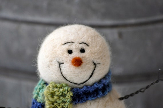 Snowman, Needle felted snowmen Holiday decor 78