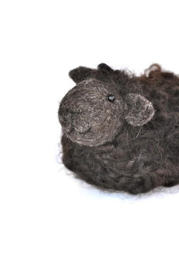 Needle felted Black Sheep
