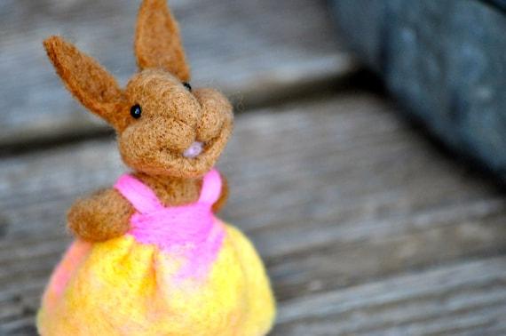 Rabbit - Needle Felted Bunny - animals