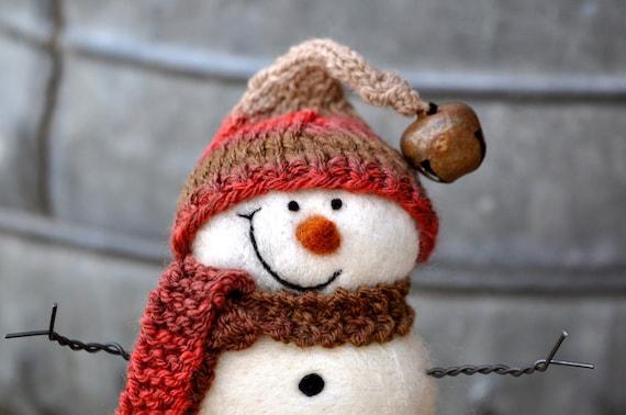 Snowman, Needle Felted Snowmen 86