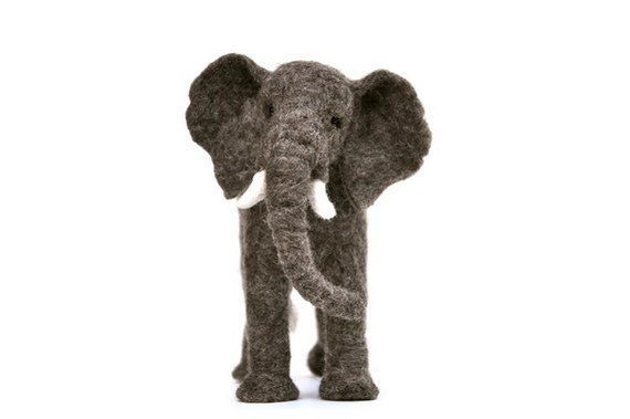 Elephant  - Needle felted wool African elephant