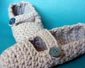 Mary-Jane crochet slippers - ALL SIZES