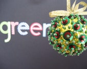Gold, Red and Green Ornament