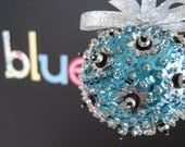 Blue, Silver and Black Ornament