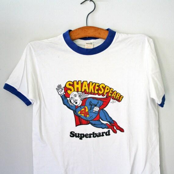 vintage 70s Shakespeare Superbard Ringer T Shirt