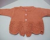 hipknitta's Orange-Mango Baby Cardigan