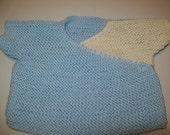 Baby, Neugeborenes Baby, Blue und White Neugeborenen wickeln Handgestrickte Blue Ribbon gebunden Geschenk für Baby-Geschenk für Mama von hipkitta