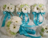 Realtouch Gerbera Daisy Bridal Bouquet Set