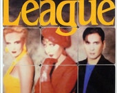 THE HUMAN LEAGUE upcycled Crash album cover coasters and record bowl