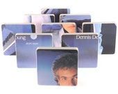 DENNIS DeYOUNG recycled Desert Moon album cover coasters and warped vinyl bowl