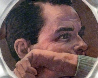 FRANK SINATRA upcycled laser disc bowl with thick poured finish